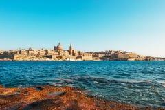 Valletta before sunset, Malta Royalty Free Stock Photo