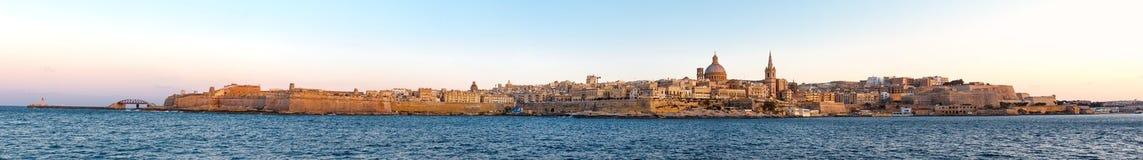 Valletta before sunset panorama, Malta, EU Stock Photography