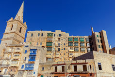 Valletta. Traditional architecture of the city. Stock Photography