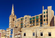 Valletta. Traditional architecture of the city. Stock Images