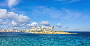 Valletta - view to sliema. View from valletta to sliema cross the harbor Stock Photography