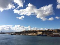 Valletta view. View towards Valletta from Senglea Point Vedette Royalty Free Stock Image