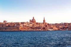 Valletta vintage background, Malta Stock Photography