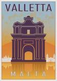 Valletta Vintage poster Stock Photo
