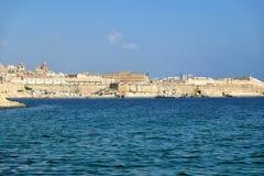 Valletta waterfront as seen from Kalkara peninsula over the Gran Stock Photography