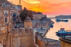 Valletta Waterfront at dawn, Malta. Royalty Free Stock Image