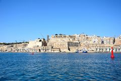 Valletta waterfront and harbour, Malta. Royalty Free Stock Photo