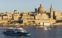 Vallettahorizon Stock Foto's