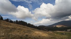 Valley 1. Shot made in Transylvania on a nice day Stock Photos