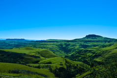 Valley of 1000 hills. The valley of 1000 hills in the Drakensburg mountains in Kwazulu Natal, South Africa Royalty Free Stock Image