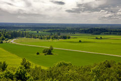 Valley. The central Estonia, kind from a viewing platform Royalty Free Stock Image
