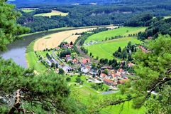 Valley. The beauriful valley in saxony Royalty Free Stock Photography