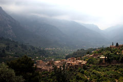 Valley. Village in a valley in Majorca in Spain stock photos