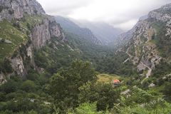 Valley. Of Ason, Cantabria, Spain. Nature Reserve Stock Images