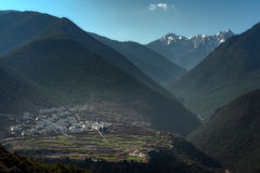 The valley in abig moutain in Zhong dain & x28;Shangri_la& x29;Yunnan,Chin. A Royalty Free Stock Image