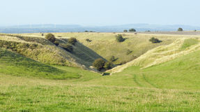 Valley above Bishopstone, The Ridgeway Royalty Free Stock Photography