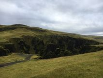 The valley above Fjadrargljufur canyon in Iceland royalty free stock photography