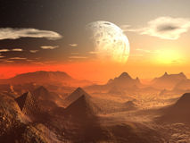 Valley of the Alien Kings Stock Image