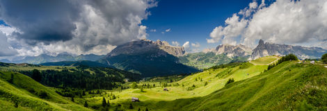 Valley on the alps Royalty Free Stock Photos