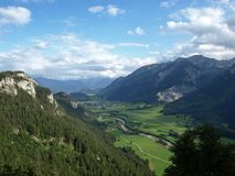 Valley in the alps in germany Stock Photos