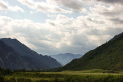 Valley in the Altai Mountains. Katun river valley in the Altai Mountains Stock Photography