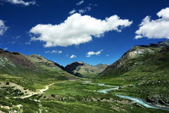 Valley. The amazing valley in Tibet royalty free stock photography