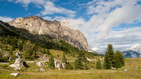 Valley of Ampezzo Stock Images