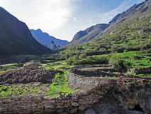 Valley in the Andes of southern Peru Stock Photography