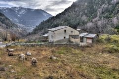 Andorra la Vella. Valley in Andorra la Vella royalty free stock photo