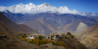Valley from the Annapurna Circuit Royalty Free Stock Photography