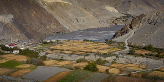 Valley from the Annapurna Circuit stock images