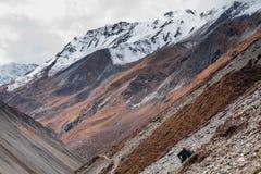 Valley on Annapurna circuit trek Stock Photography