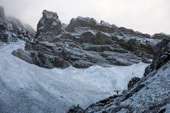 Valley on Annapurna circuit trek Royalty Free Stock Image