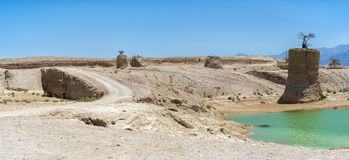 Valley of Arava desert after rain, Israel Stock Images