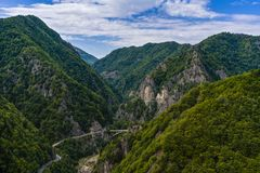 The valley of the Arges river Royalty Free Stock Photo