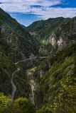 The valley of the Arges river Stock Photography