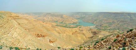 Valley of the Arnon. Overlooking the beautiful Arnon Valley, Jordan stock image