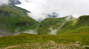 A valley in Austrian Alps Royalty Free Stock Photos