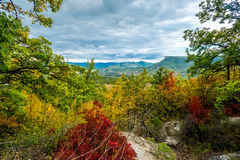 Valley in autumn. Royalty Free Stock Photo