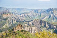 The valley of the Badlands Royalty Free Stock Images