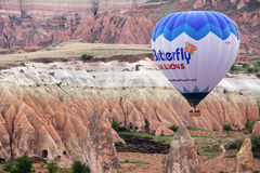 Valley balloon Royalty Free Stock Image