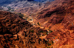 Valley Barranco de MogA? ¡ n 免版税图库摄影