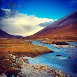 Valley. The beautiful valley in the Tibet stock images