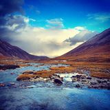 Valley. The beautiful valley in the Tibet Stock Photography