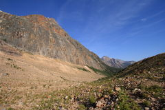 Valley below Mount Edith Cavell Royalty Free Stock Image