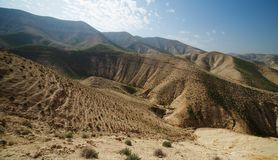 Valley Between Hills In Desert In Spring Royalty Free Stock Photography