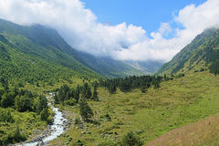 Valley of Bilyagidon river, Caucasus, Russia Stock Photo