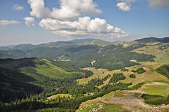 Valley in Bucegi Mountains 2. A view of a valley in Bucegi Mountains,Carpathian,Romania royalty free stock photo