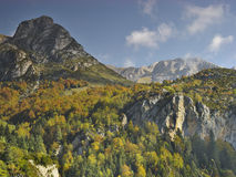 Valley Bujaruelo, near National Park of Ordesa. Near the Ordesa National Park, lies the valley of Bujaruelo. It has nothing to envy to the valley of Ordesa. It Royalty Free Stock Image