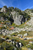 Valley Campan in the autumn Pyrenees Stock Photo